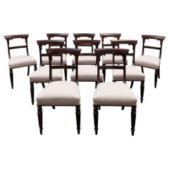 Set of 10 Antique Dining Chairs