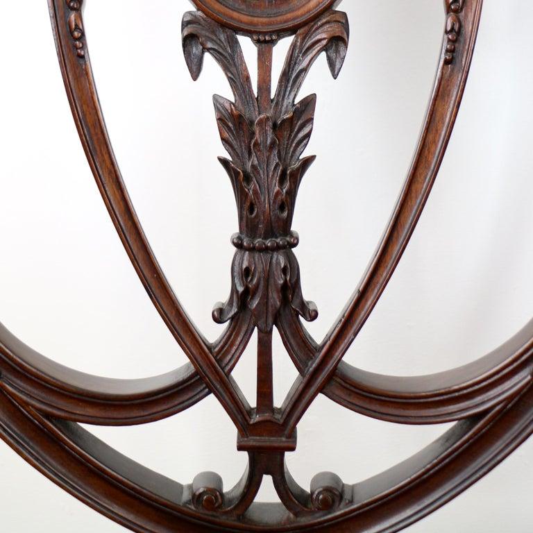Set Of 10 Antique English Victorian Hepplewhite Design