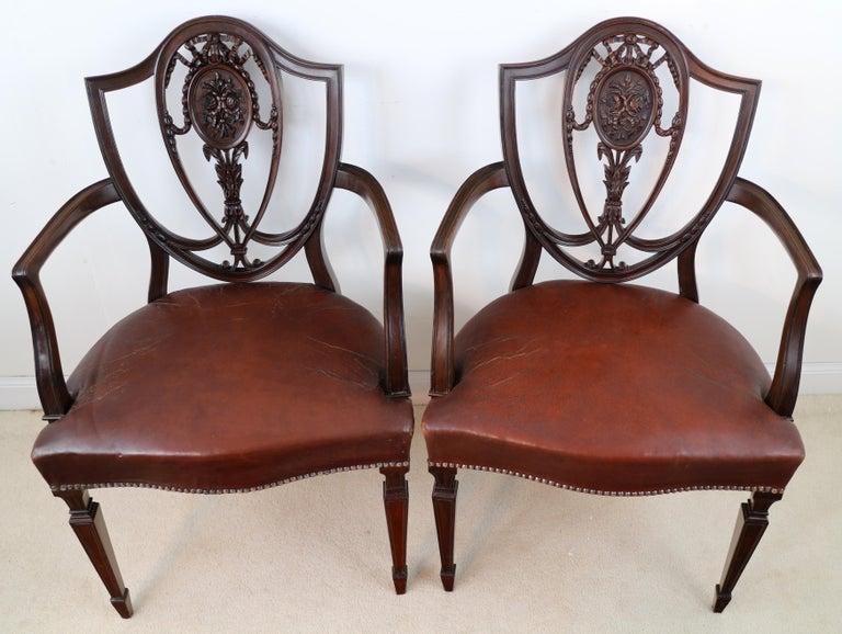 Set of 10 Antique English Victorian Hepplewhite Design ...