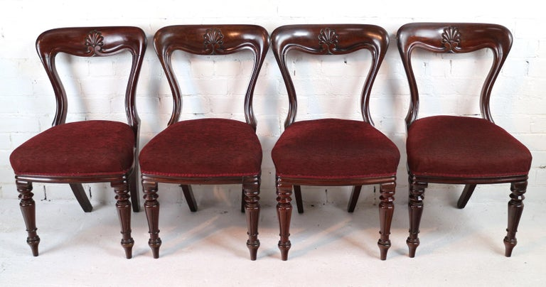 Set of 10 Antique English William IV Mahogany Dining Chairs by J Proctor For Sale 6