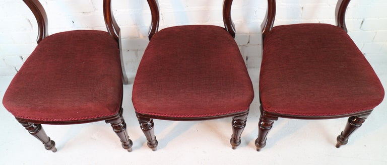 Set of 10 Antique English William IV Mahogany Dining Chairs by J Proctor For Sale 11