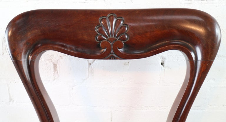 Set of 10 Antique English William IV Mahogany Dining Chairs by J Proctor For Sale 3