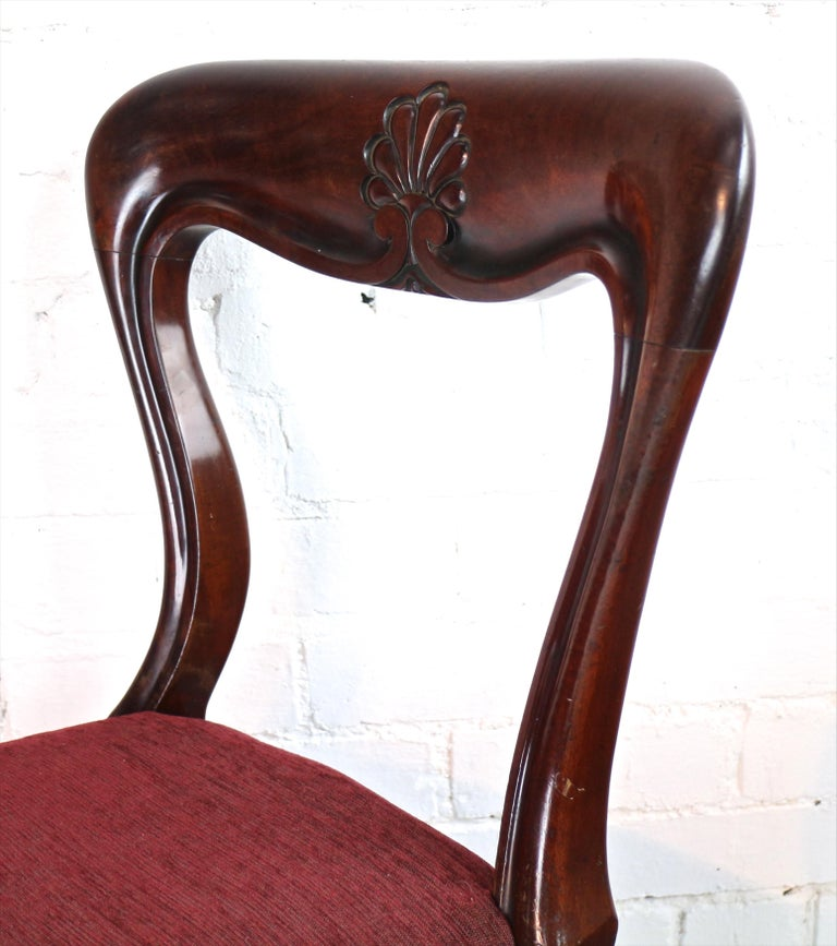 Set of 10 Antique English William IV Mahogany Dining Chairs by J Proctor For Sale 4