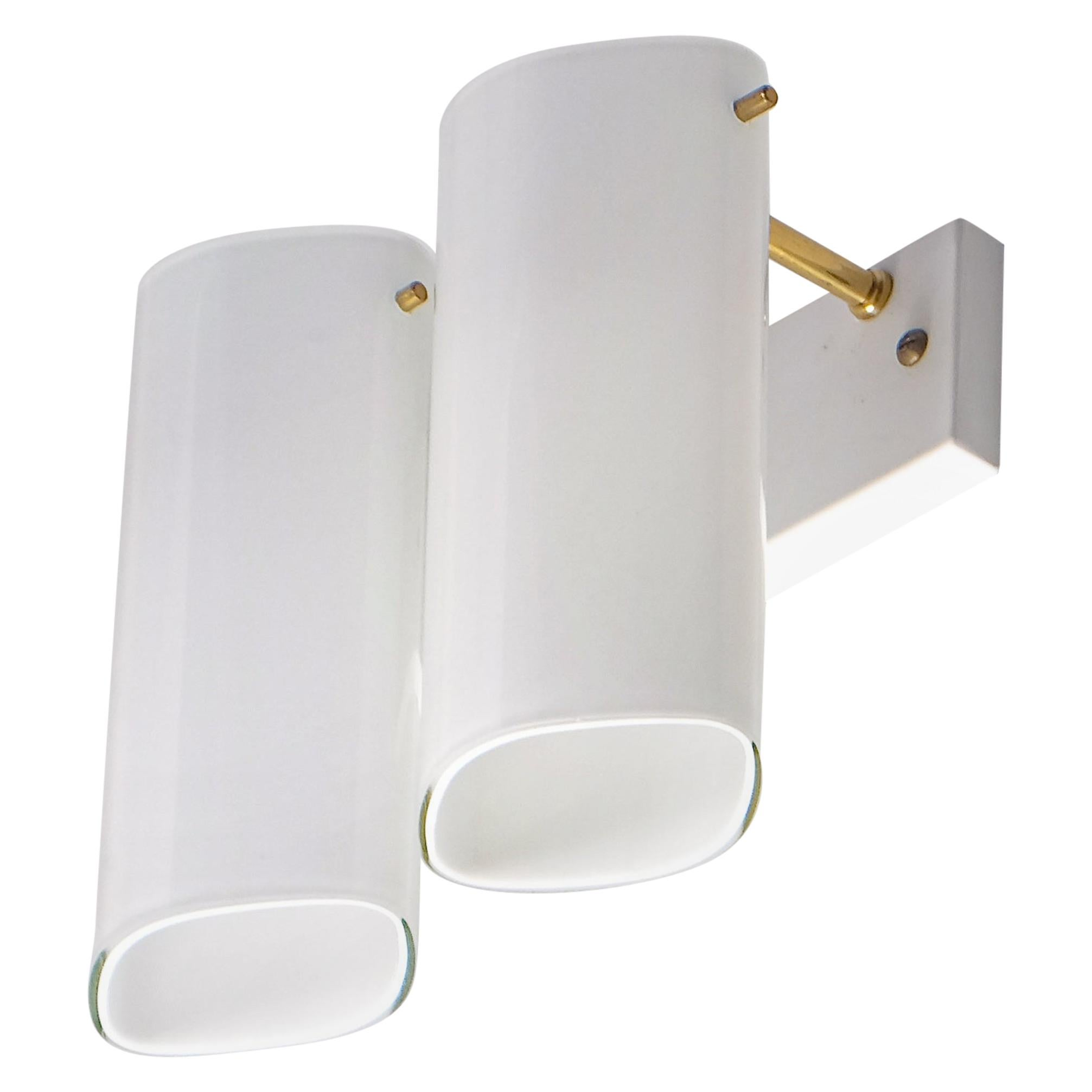 """Set of 10 """"Ark"""" Wall Lamps by Gert Nyström, Fagerhults, Sweden, 1960s"""
