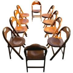 Set of 10 Bauhaus Folding Chairs by Thonet