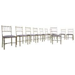 Set of 10 Brass Chairs, circa 1940