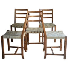 Set of 10 Chairs Axel Larsson, Sweden, 1930s