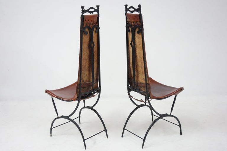 French Set of 10 Chairs by François & Sido Thevenin For Sale