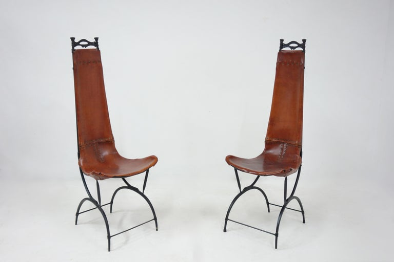 Late 20th Century Set of 10 Chairs by François & Sido Thevenin For Sale