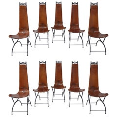 Set of 10 Chairs by François & Sido Thevenin