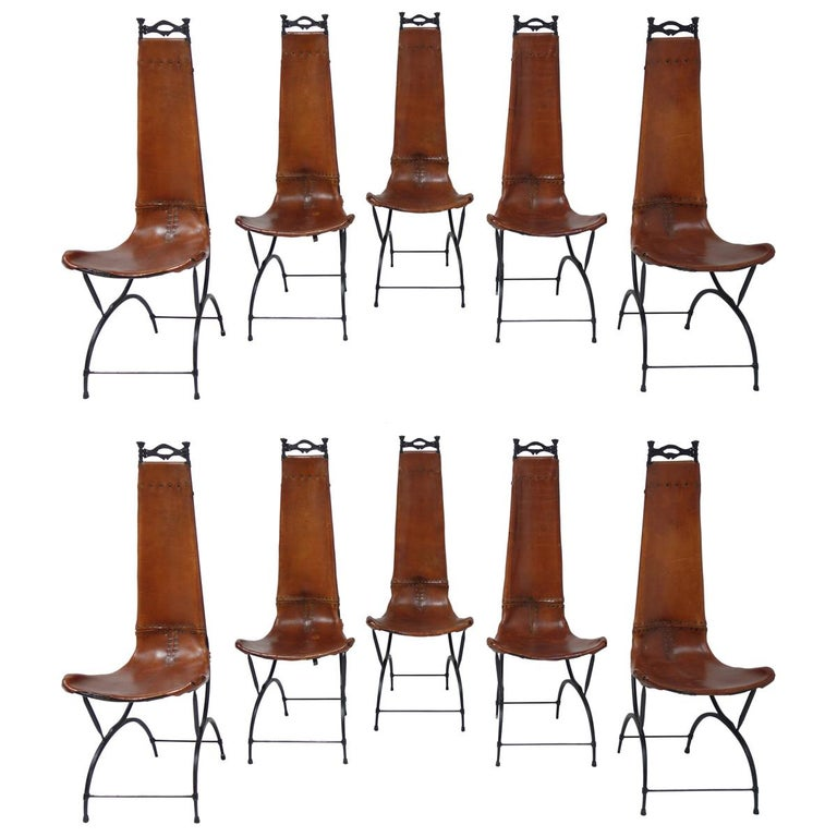 Set of 10 Chairs by François & Sido Thevenin For Sale