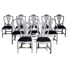 Set of 10 Chairs, circa 1890