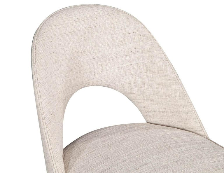 Set of 10 Custom Modern Dining Chairs in Glazier Whitewash Finish For Sale 7