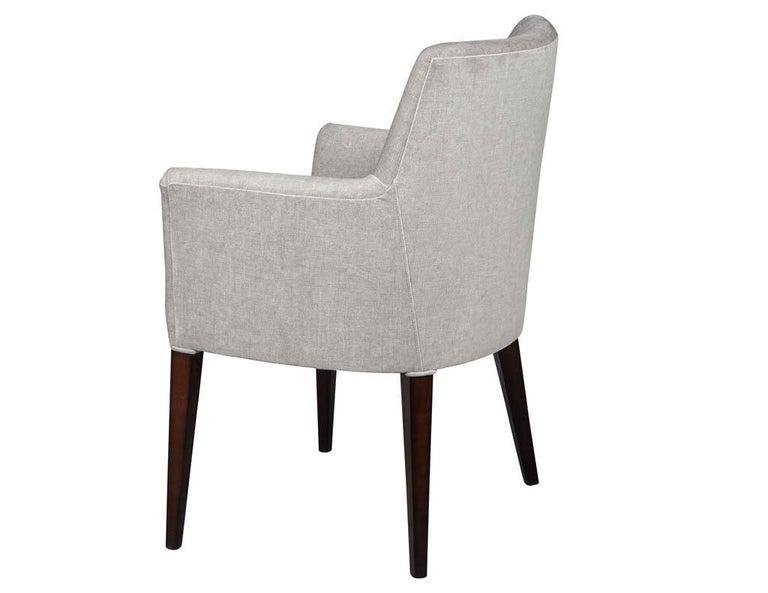 Fabric Set of 10 Custom Relari Modern Dining Chairs For Sale