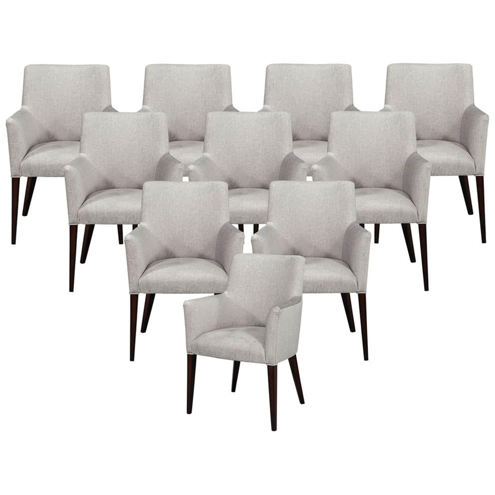 Set of 10 Custom Relari Modern Dining Chairs