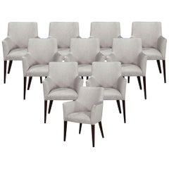 Set of 10 Custom Relari Modern Dining Chairs
