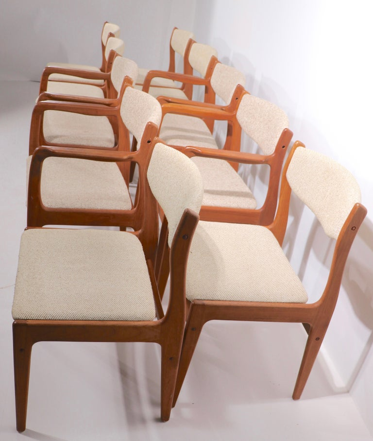 Set of 10 Danish Dining Chairs Att. to Erik Buch for Odense Maskinsnedkeri For Sale 5