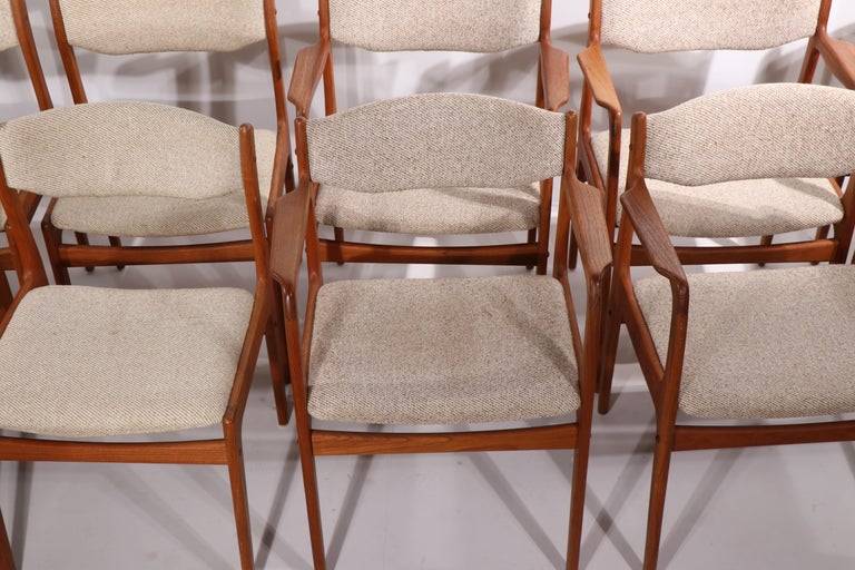 Set of 10 Danish Dining Chairs Att. to Erik Buch for Odense Maskinsnedkeri For Sale 6