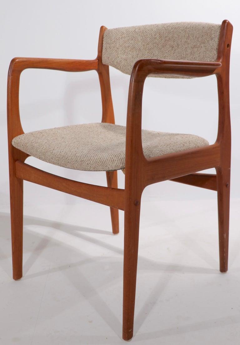 Scandinavian Modern Set of 10 Danish Dining Chairs Att. to Erik Buch for Odense Maskinsnedkeri For Sale