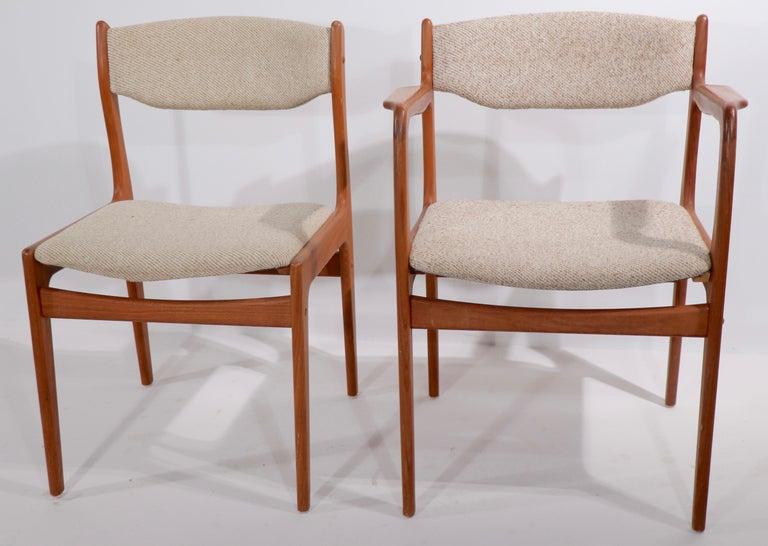 Teak Set of 10 Danish Dining Chairs Att. to Erik Buch for Odense Maskinsnedkeri For Sale