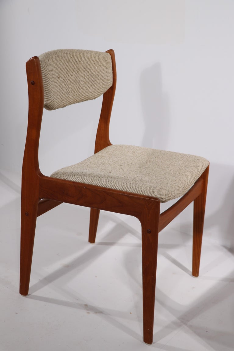 Set of 10 Danish Dining Chairs Att. to Erik Buch for Odense Maskinsnedkeri For Sale 1