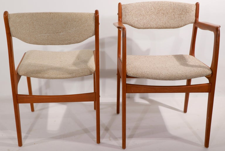 Set of 10 Danish Dining Chairs Att. to Erik Buch for Odense Maskinsnedkeri For Sale 3