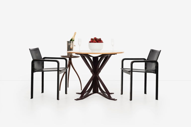 Leather Set of 10 Dining Chairs by Matteograssi, Italy For Sale