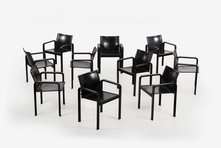 Set of 10 Dining Chairs by Matteograssi, Italy For Sale 1