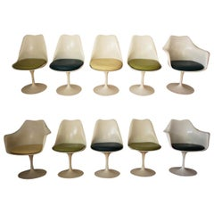 Set of 10 Eero Saarinen for Knoll Tulip Chairs