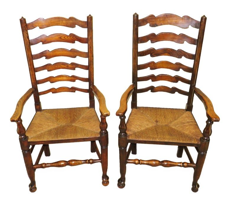 A delightful set of 10 matched English late 19th century ash