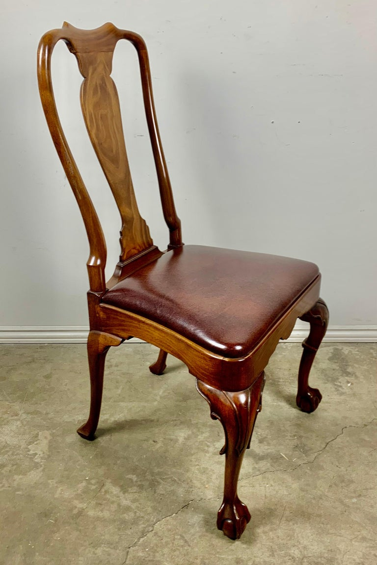 Set of '10' English Queen Anne Style Side Chairs For Sale 2