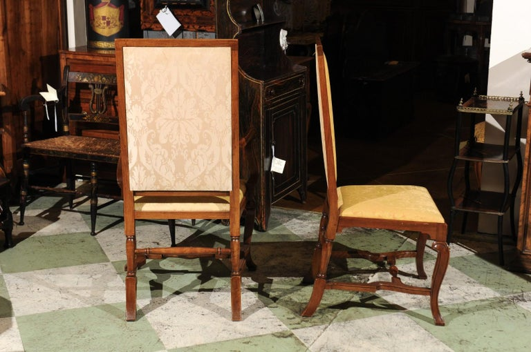 Set of 10 English Queen Anne Style Walnut Dining Chairs For Sale 3