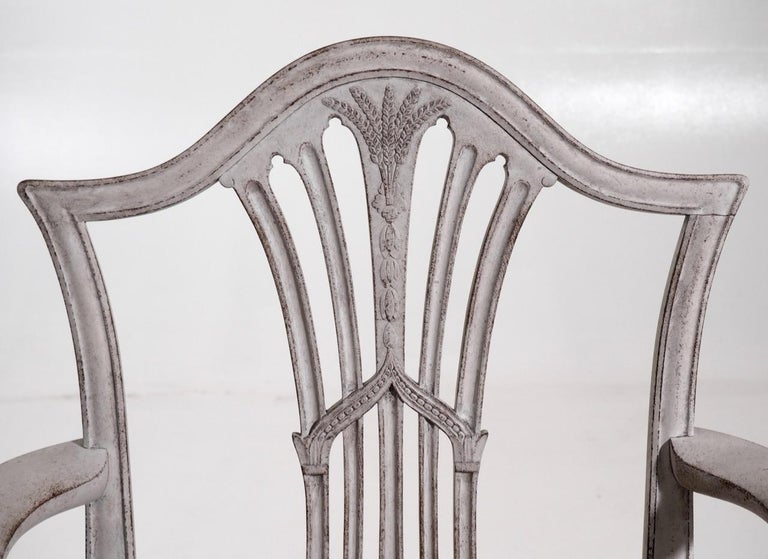 Wood Set of 10 European Chairs, 19th Century For Sale