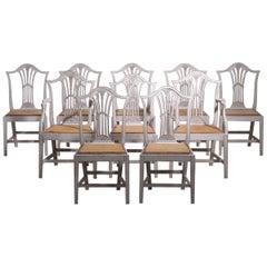 Set of 10 European Chairs, 19th Century