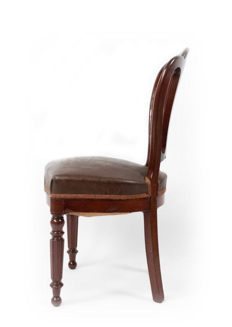 Set of 10 French Empire Mahogany Dining Chairs In Good Condition For Sale In New York, NY