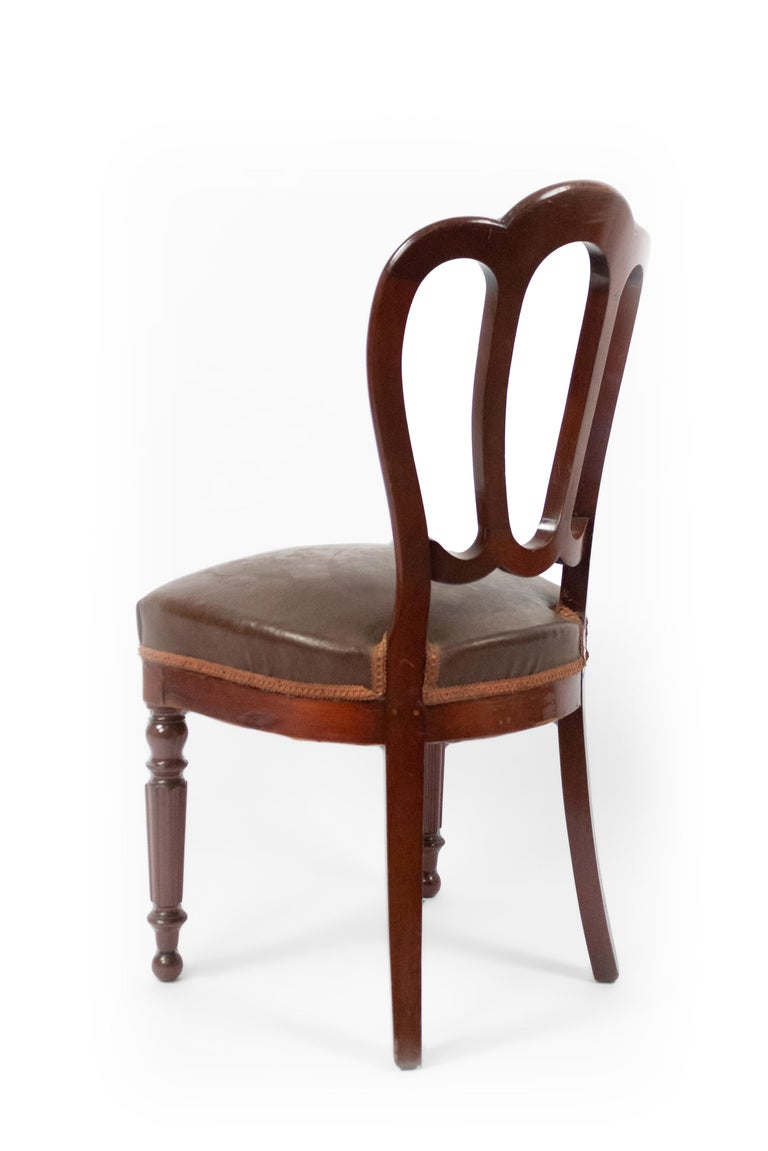 19th Century Set of 10 French Empire Mahogany Dining Chairs For Sale
