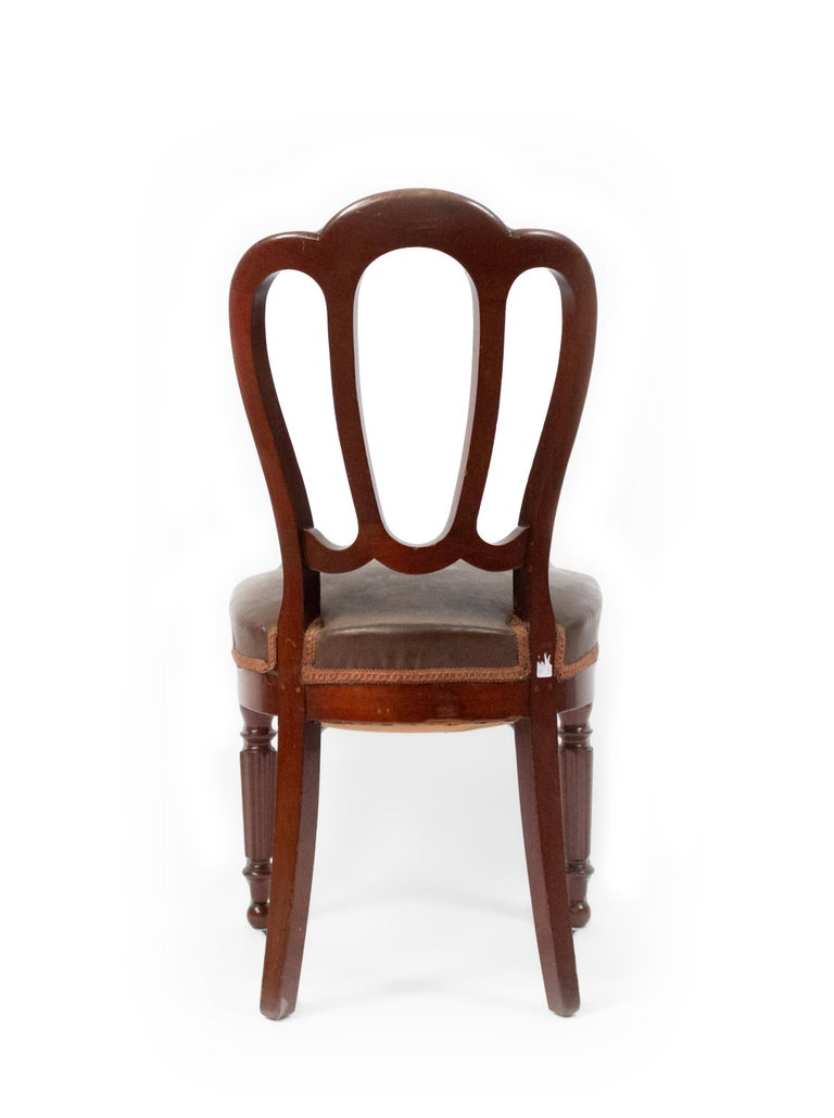 Set of 10 French Empire Mahogany Dining Chairs For Sale 1