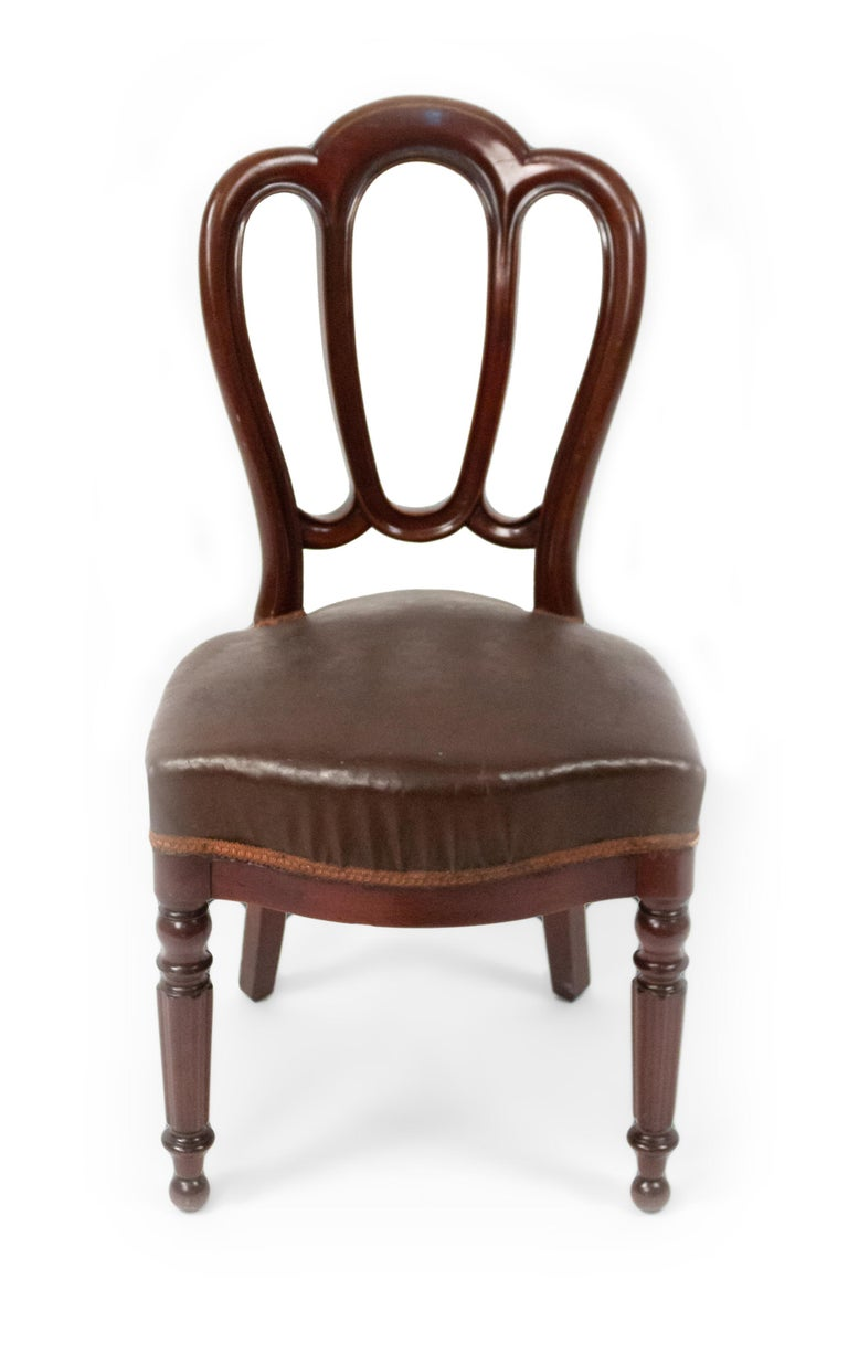 Set of 10 French Empire Mahogany Dining Chairs For Sale 2