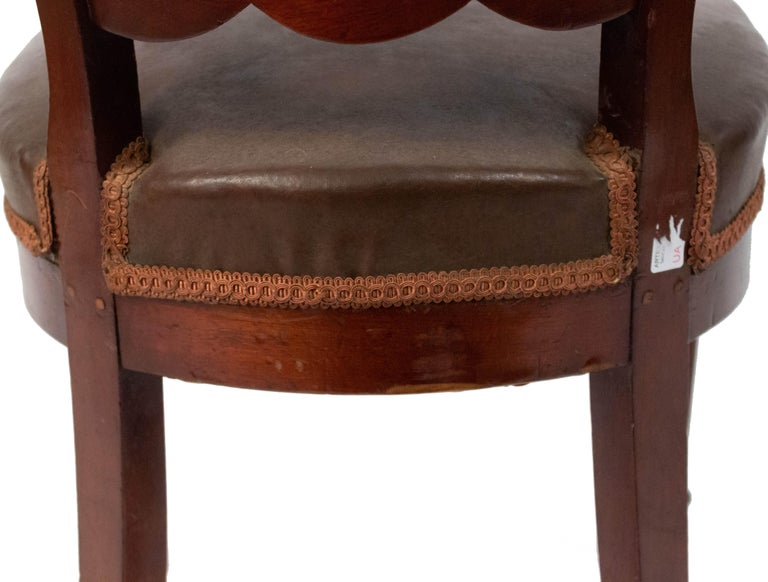 Set of 10 French Empire Mahogany Dining Chairs For Sale 4