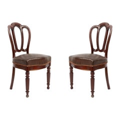 Set of 10 French Empire Mahogany Dining Chairs