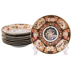 Set of Ten Imari Style Plates France, circa 1870