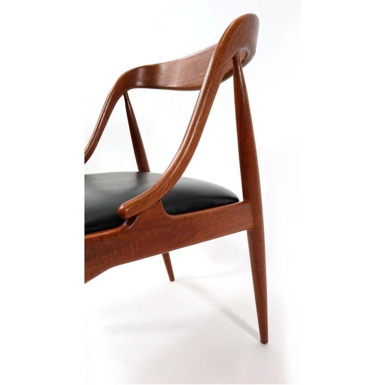 Set of 10 Johannes Andersen for Uldum Møbelfabrik Danish Teak Dining Chairs 5