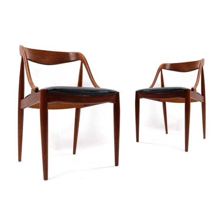Mid-Century Modern Set of 10 Johannes Andersen for Uldum Møbelfabrik Danish Teak Dining Chairs
