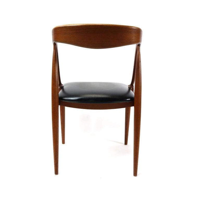 Mid-20th Century Set of 10 Johannes Andersen for Uldum Møbelfabrik Danish Teak Dining Chairs