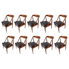 Set of 10 Johannes Andersen for Uldum Møbelfabrik Danish Teak Dining Chairs