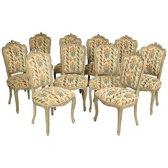Set of 10 Louis XV Style Dining Room Chairs
