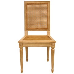Set of 10 Louis XVI Style Hand-Caned Dining Chairs
