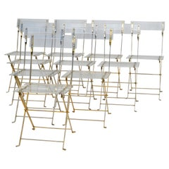 Set of 10 Lucite Folding Chairs by Yonel Lebovici