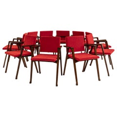 Set of 10 Luisa Chairs by Franco Albini