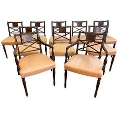 Set of 10 Mahogany Dining Chairs